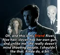 Watch and share Eleventh Doctor GIFs and Doctor X River GIFs on Gfycat