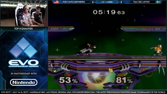 Mew2king takes game one