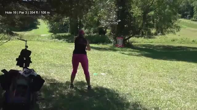 Watch Round One 2018 Discraft's Great Lakes Open - Sarah Hokom Hole 16 GIF by Benn Wineka UWDG (@bennwineka) on Gfycat. Discover more dgpt, disc golf, disc golf pro tour GIFs on Gfycat