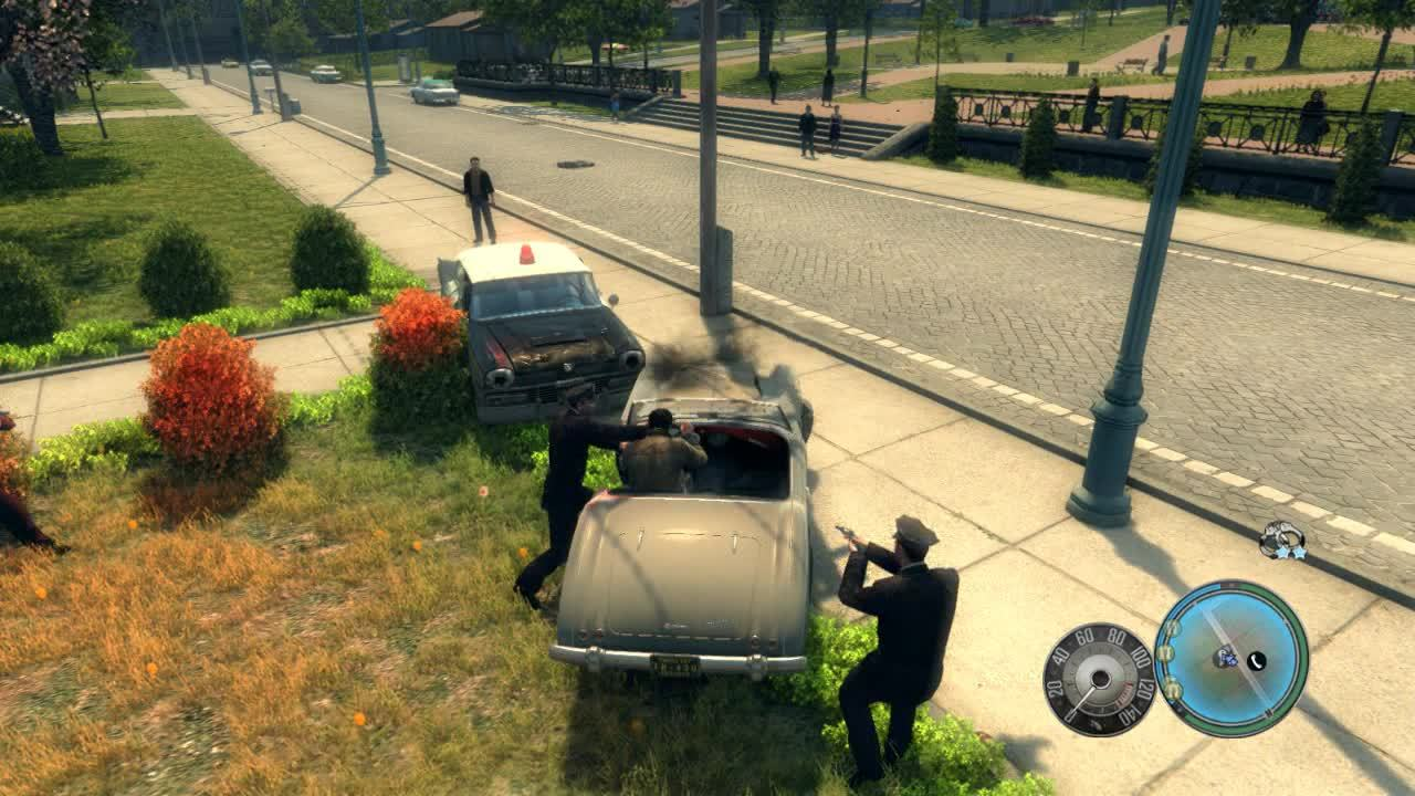 [Mafia II] Vito's car isn't pleased with his arrest (reddit) GIFs
