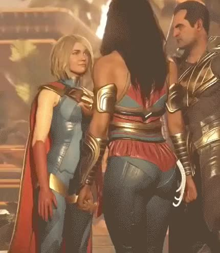 Watch and share Injustice 2 Supergirl Argue GIFs on Gfycat