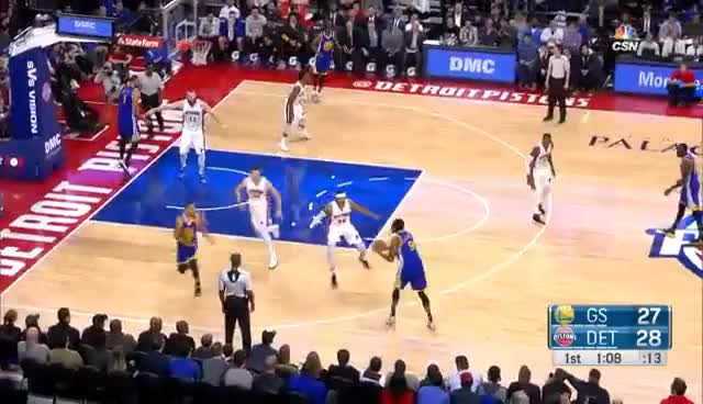Watch and share Stephen Curry Smooth Behind The Back Step Back Three In Detroit | 12.23.16 GIFs on Gfycat