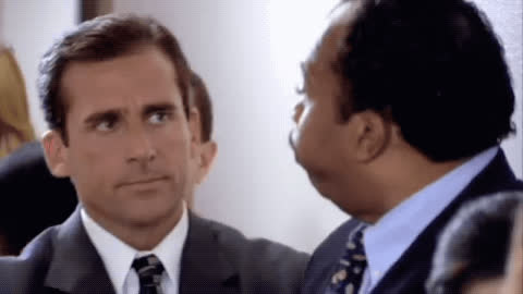 leslie david baker, pretzel day, steve carell, the office, The Office High Five GIFs