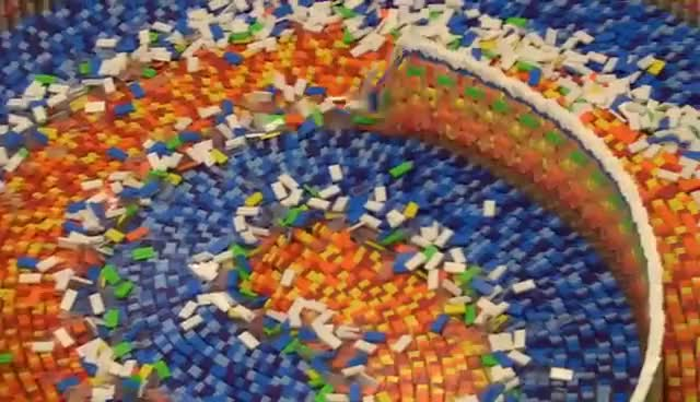 Watch and share THE AMAZING TRIPLE SPIRAL (15,000 DOMINOES) GIFs on Gfycat