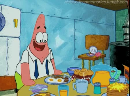 Watch and share Spongebob Squarepants GIFs and Breakfast GIFs on Gfycat