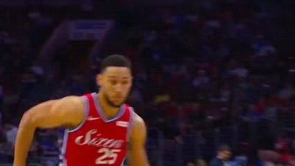 Watch Ben Simmons — Philadelphia 76ers GIF by Off-Hand (@off-hand) on Gfycat. Discover more 021219 GIFs on Gfycat
