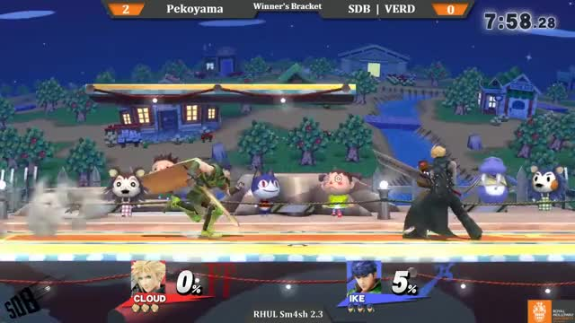 Watch Pekoyama (Cloud, Donkey Kong) vs SDB | VERD (Ike) | WFs | RHUL Sm4sh 2.3 | SDB GIF by @verduyn on Gfycat. Discover more smash, smashbros, super smash brothers GIFs on Gfycat