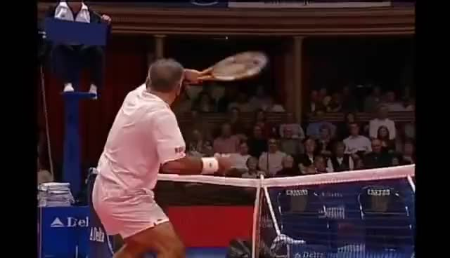 Watch and share MANSOUR BAHRAMI - Tennis' Greatest Entertainer GIFs on Gfycat