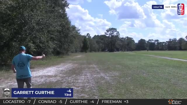 Watch 2018 Disc Golf Pro Tour Championship - MPO Semifinals Garrett Gurthie hole 14 approach GIF by Benn Wineka UWDG (@bennwineka) on Gfycat. Discover more Sports, dgpt, disc golf, disc golf pro tour GIFs on Gfycat
