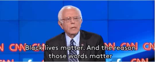 Watch and share Black Lives Matter GIFs and Bernie Sanders GIFs on Gfycat