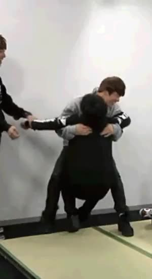 The play fight/ticklish fight with bts was so cute! Can you GIF