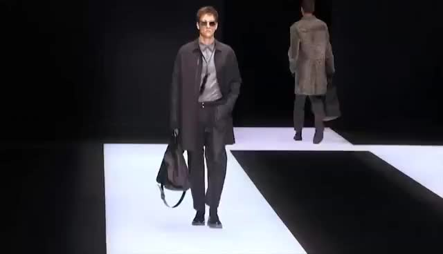 Watch Défilé Emporio Armani Homme automne hiver 2016-2017 GIF on Gfycat. Discover more related GIFs on Gfycat