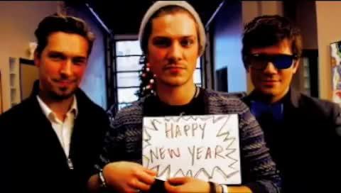 Hanson, Happy, New, Year, from, hanson, happy, happy new year, holiday, new, new year, new years, year, Happy New Year from Hanson GIFs
