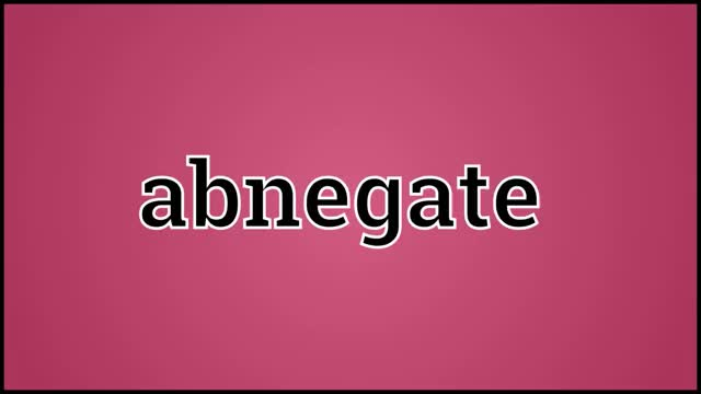 Watch What Abnegate Means GIF on Gfycat. Discover more abnegate, abnegate definition, abnegate meaning, abnegate pronunciation, definition, pronunciation GIFs on Gfycat