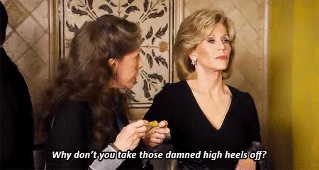Watch and share Grace And Frankie GIFs and High Heels GIFs on Gfycat