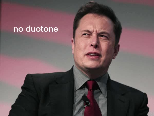 Watch Elon Musk likes duotone (I guess so) GIF on Gfycat. Discover more related GIFs on Gfycat