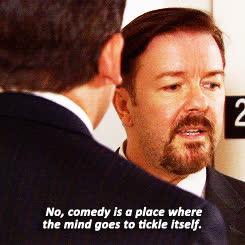 Ricky Gervais, steve carell on michael scott GIFs