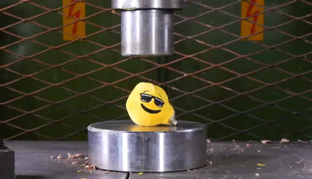 Watch and share Crushing Emojis With Hydraulic Press GIFs on Gfycat
