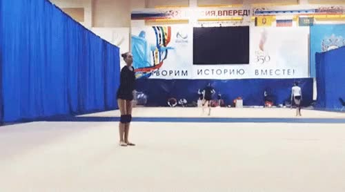Watch and share Gymnastics GIFs on Gfycat