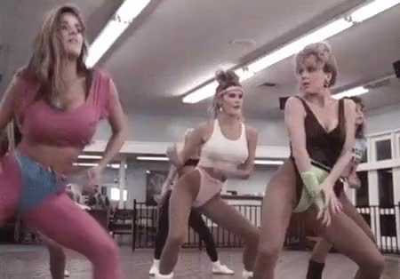 Watch Aerobicide - 1987 GIF on Gfycat. Discover more 80s, aerobicide, aerobics, babes, cult, hot, killer workout, slasher, vhs GIFs on Gfycat