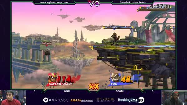 S@X - Acid (Captain Falcon) Vs. Shofu (Fox) SSB4 Losers Semis - smash 4 Wii U (reddit)