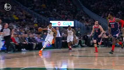 Watch and share Giannis Antetokounmpo — Milwaukee Bucks GIFs by Off-Hand on Gfycat