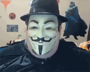 Fat anon wears Guy Fawkes mask and tipping his fedora [cringe boogie2988] (reddit)