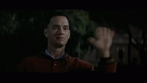 Forrest Gump, Hello, Hi, Tom Hanks, Waving, Hi Jenny! GIFs