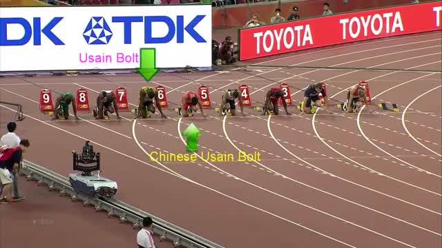 Watch and share Chinese Usain Bolt Attempt Beats Usain Bolt On 100m (HD) GIFs by LimeLights  on Gfycat