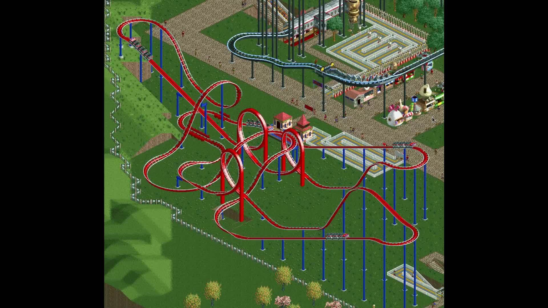 OpenRCT, RCT, rct, When you build a near-perfect ride GIFs