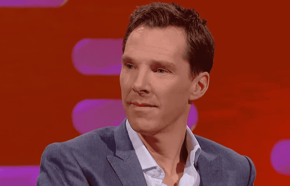 awkward, benedict, cumberbatch, eye, frozen, god, graham, my, no, norton, oh, omg, open, roll, show, surprised, think, way, weird, wtf, Benedict Cumberbatch - Awkward GIFs