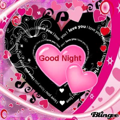 Watch and share Good Night I Love You Hearts GIFs on Gfycat