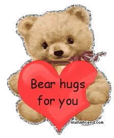Watch and share Hugs Bear Animated Teddybears animated stickers on Gfycat