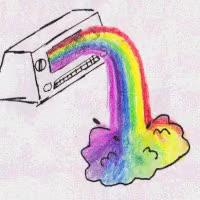 Watch and share Radio Rainbow Puke GIFs on Gfycat