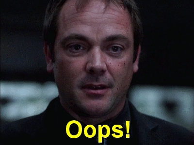 Mark A. Sheppard, crowley, oops, supernatural, Oops! :) GIFs