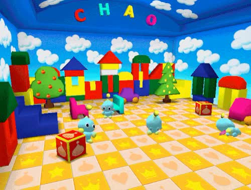 Watch and share Sonic The Hedgehog GIFs and Chao Kindergarten GIFs on Gfycat