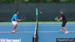 Watch and share TENNIS TIPS VOLLEY | Simple Tennis Volley Drill GIFs on Gfycat