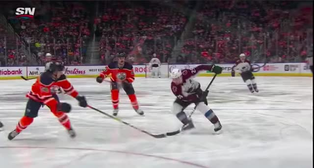 Watch and share Zack Kassian Hits Nathan MacKinnon GIFs by cultofhockey on Gfycat