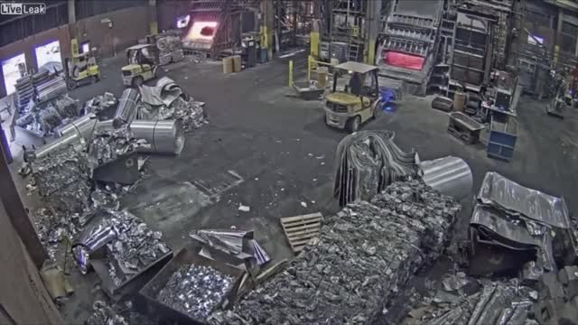 Watch and share Foundry Worker Puts Wet Scrap Metal In Furnace, November 27, 2019 GIFs on Gfycat