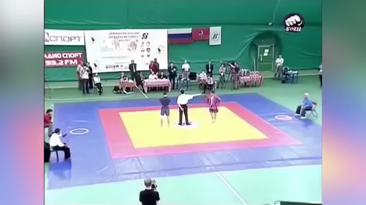 [Image/GIF] Khabib Nurmagomedov's reaction after suffering his first career Sambo loss (reddit) GIFs