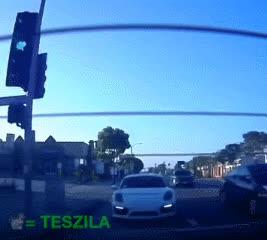 Porsche vs Tesla GIFs