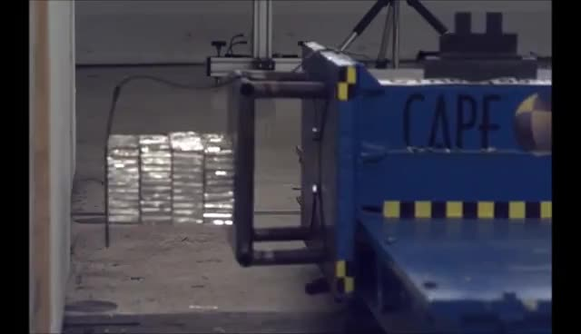 Northwestern Formula Racing FSAE Impact Attenuator Crash Test at CAPE - Aluminum honeycomb GIFs
