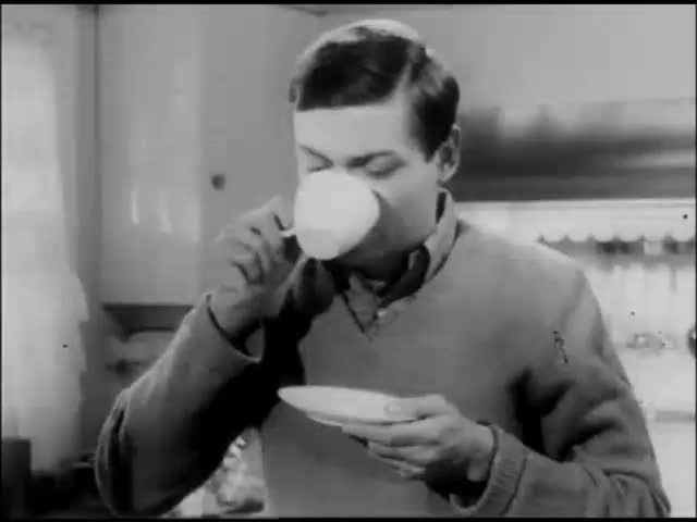 Watch Coffee Drinker: Via Folgers Commercial (1960s) Gif: Marc Rodriguez. GIF by Marc Rodriguez (@marcrodriguez) on Gfycat. Discover more 1960s, Marc Rodriguez, black and white, breakfast, cafe, coffee, coffee cup, commercial, cup, drink, drinking, java, joe, morning, retro gif, saucer, tasty, vintage GIFs on Gfycat