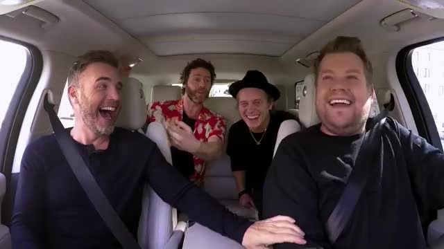 Watch Carpool Karaoke with Take That | Red Nose Day 2017 GIF on Gfycat. Discover more celebs, charity, james corden GIFs on Gfycat
