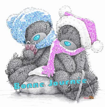 Watch and share Bonne Journée - Oursons - Tatty Teddy - Hiver - Froid - Gif Scintillant - Gratuit GIFs on Gfycat