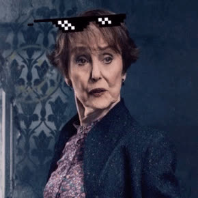 mrs hudson, deal with it, sherlock, sunglasses, Mrs. Hudson Deal With It GIFs