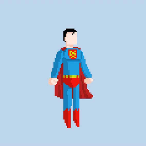 The many lives of Superman (Pixel Art) : DCcomics GIFs