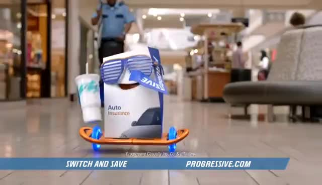 The Mall - Progressive Insurance Commercial GIFs