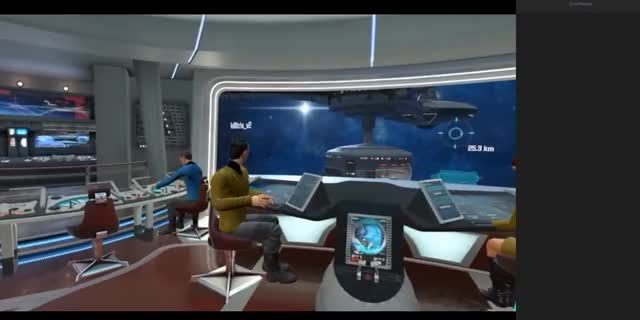 Vive User finds a female in Star trek VR
