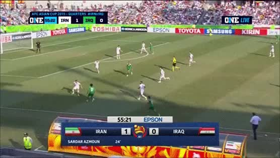 Watch and share Iraq's Ahmed Yasin Goal Vs Iran (1-1) (reddit) GIFs by cwsportsblog on Gfycat